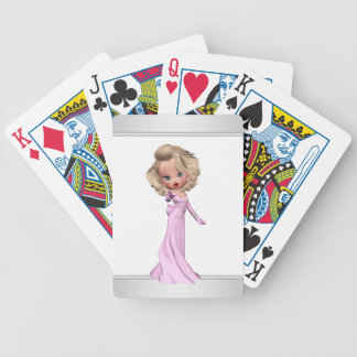 Darling Pink Diva Bicycle Playing Cards