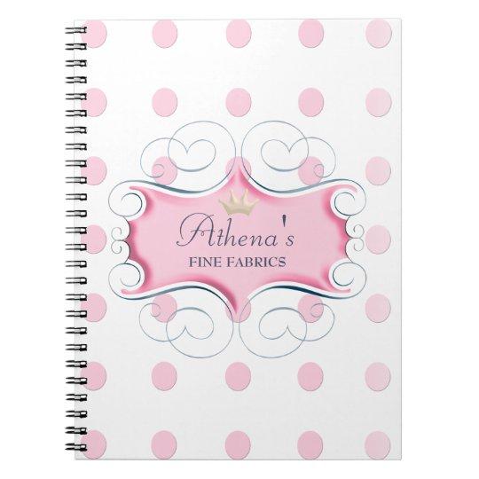 Darling Pink Frame and Pink Polka Dots Notebook