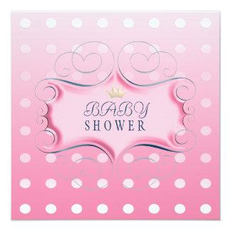 Darling Pink Frame with Pink Polka Dots Card