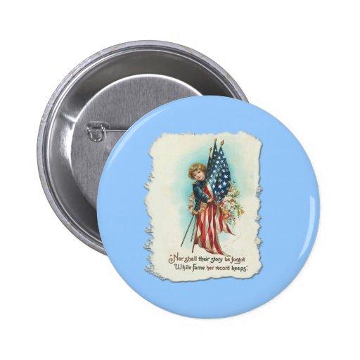 Darling Vintage Americana Design 6 Cm Round Badge