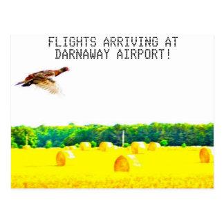 Darnaway airport postcard