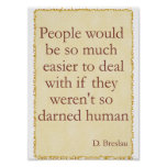 Darned Human Poster Posters