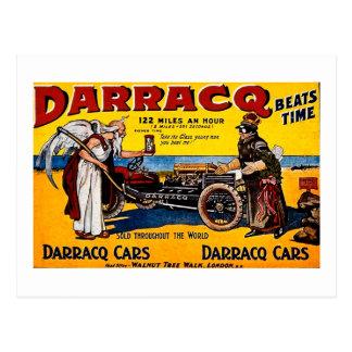 Darracq - Vintage Auto Advertisement Post Cards