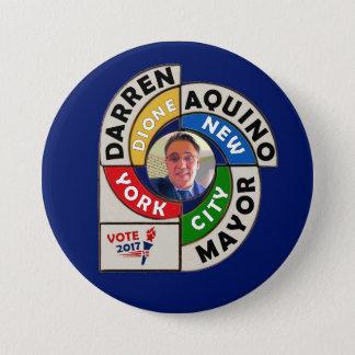 Darren Dione Aquino for NYC Mayor 2017 7.5 Cm Round Badge