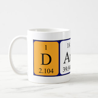 Darren periodic table name mug