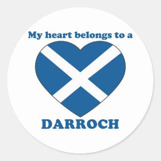 Darroch Classic Round Sticker