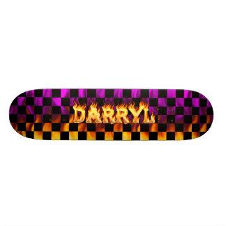 Darryl skateboard fire and flames design.