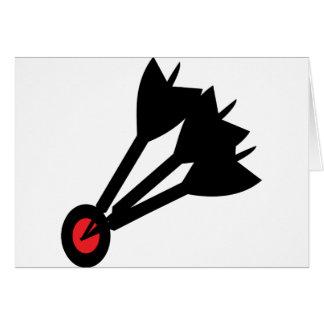 dart arrows bullseye card