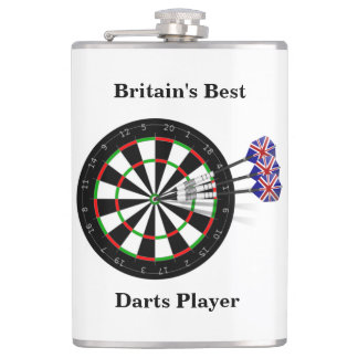 Dart Board And Darts Britain's Best Darts Player Flasks