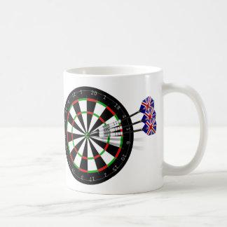 Dart Board And Darts Coffee Mug