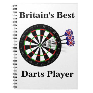 Dart Board And Darts Notebook
