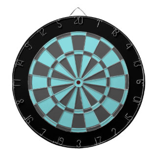 Dart Board: Aqua, Charcoal Gray, And Black Dartboard