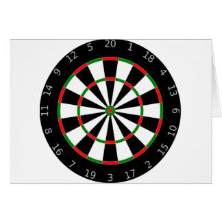 Dart Board Card