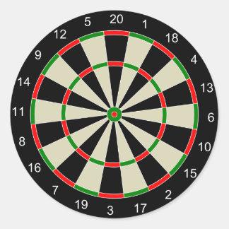 Dart Board Classic Round Sticker