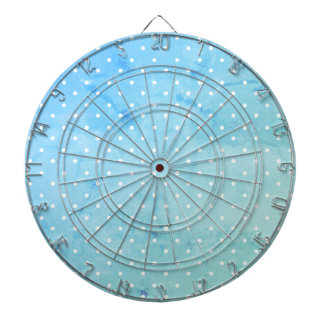 Dart-Board_Cottage-Blue-Dots(c)_ Polka-Dots Dartboard