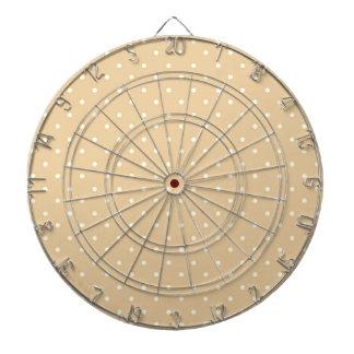 Dart-Board_Cottage-Cream-Dots(c)_ Polka-Dots Dart Boards