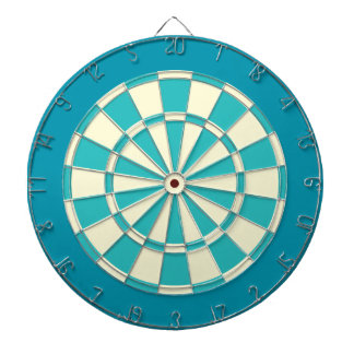 Dart Board: Cream, Turquoise, And Teal Dart Boards