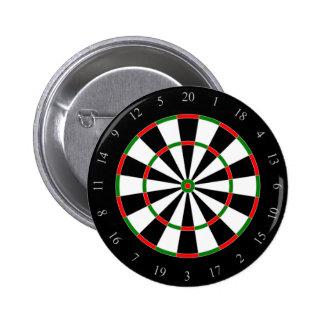 Dart Board fun, novelty button, pin, badge, gift