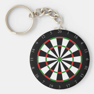 Dart Board fun novelty keychain, gift Basic Round Button Key Ring