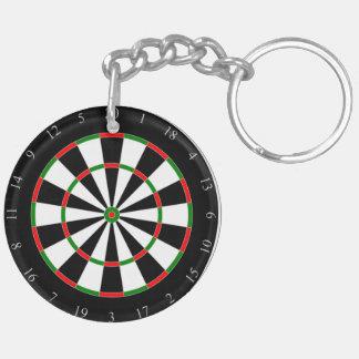 Dart Board fun, novelty keychain, gift Double-Sided Round Acrylic Key Ring