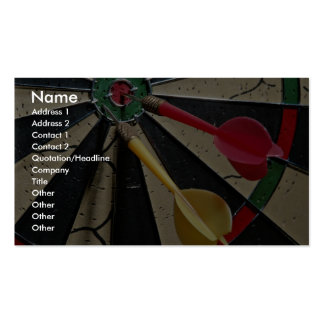 Dart board game pack of standard business cards