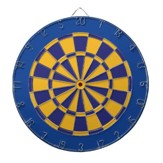 Dart Board: Gold, Navy, And Blue Dartboards