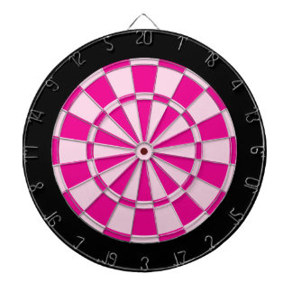 Dart Board: Light Pink, Dark Pink, And Black Dartboard