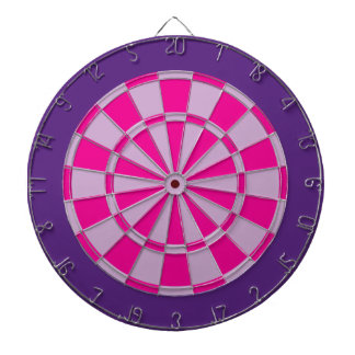 Dart Board: Light Purple, Pink, And Dark Purple Dartboard