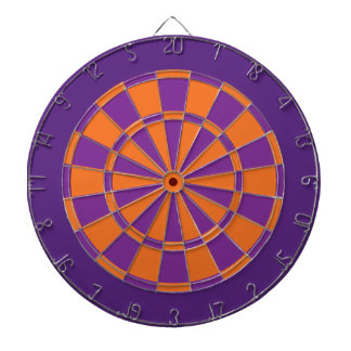 Dart Board: Orange, Purple, And Dark Purple Dart Board