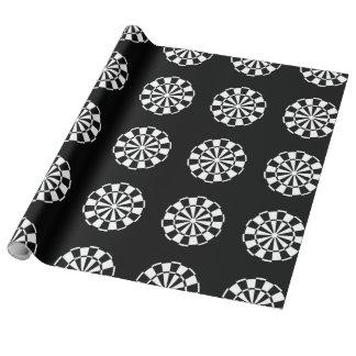 Dart board pattern wrapping paper