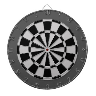 Dart Board: Silver Gray, Black, And Charcoal Dartboard