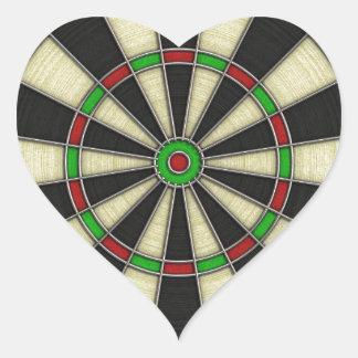 Dart Board Heart Stickers