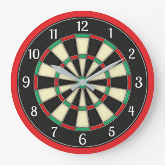 Dart Board Style Man Cave Large Clock