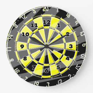 Dart board wall clock for fans and enthusiasts