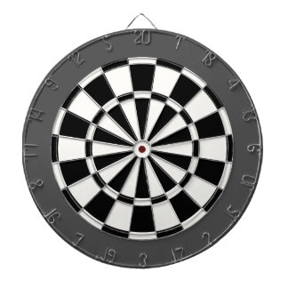 Dart Board: White, Black, And Charcoal Gray Dart Boards