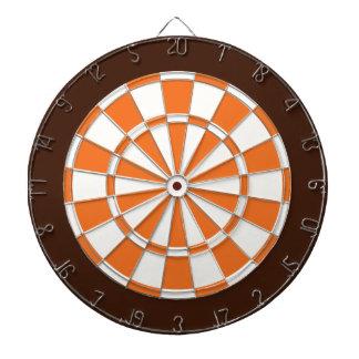 Dart Board: White, Orange, And Brown Dartboard