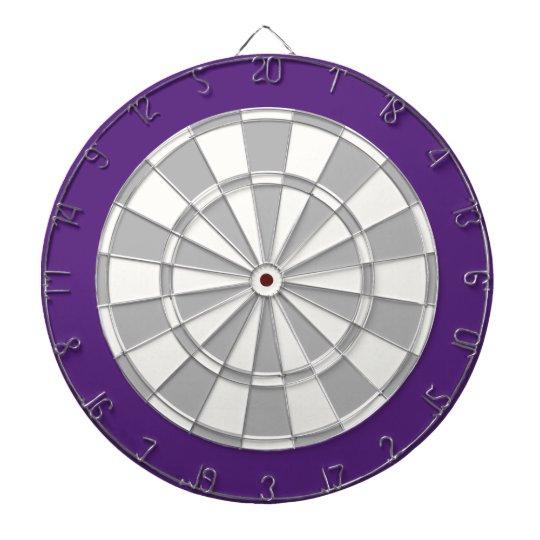 Dart Board: White, Silver Grey, And Purple Dartboard