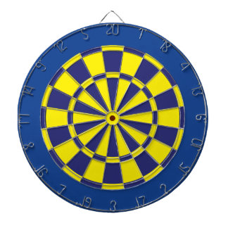 Dart Board: Yellow, Navy, And Blue Dartboard