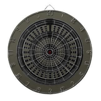 DART Chakra - Black n Silver Wheels Rough Tough Dartboard