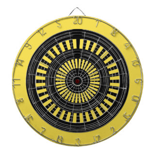DART Chakra - Black n Silver Wheels Rough Tough Dartboard With Darts