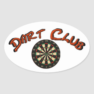 Dart Club Logo Oval Sticker White