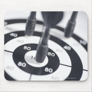 Dart in Bulls Eye Mouse Pad