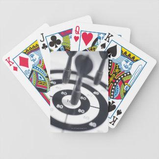 Dart in Bulls Eye Poker Deck