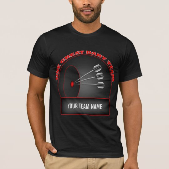 Dart League Great Team Mens Black T-shirt