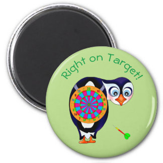 Dart Penguin by The Happy Juul Company 6 Cm Round Magnet
