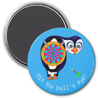 Dart Penguin by The Happy Juul Company 7.5 Cm Round Magnet