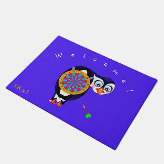 Dart Penguin by The Happy Juul Company Doormat