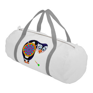 Dart Penguin by The Happy Juul Company Gym Duffel Bag