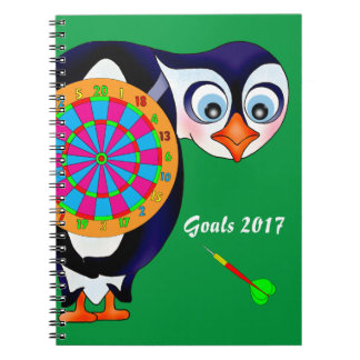 Dart Penguin by The Happy Juul Company Spiral Notebook