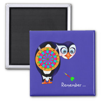 Dart Penguin by The Happy Juul Company Square Magnet